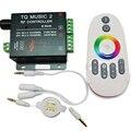 RGB Música Controlador RF Remoto DC12-24V 18A Sensibilidade Sónico Inteligente Led Backlight Remoto