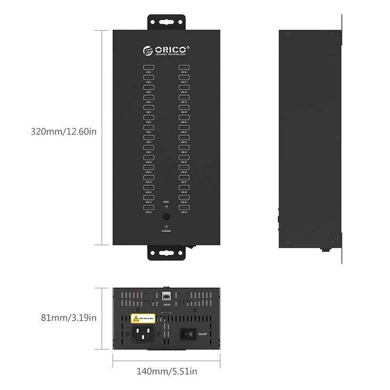 HUB 30 USB Ports Industrial USB2.0 HUB USB Splitter with 2 Models Data transmission or USB Charger , IH30P