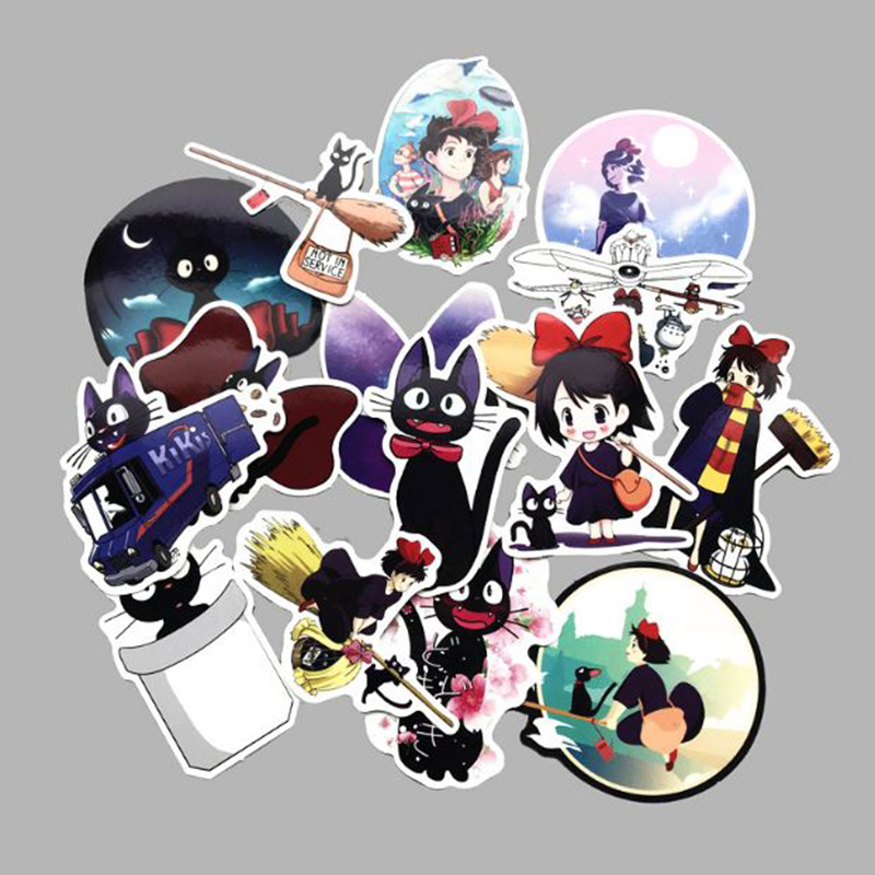 15 Pcs/set New Kiki's Delivery Service Sticker Decal For Phone Car Laptop Bicycle Notebook Backpack Case Waterproof Stickers