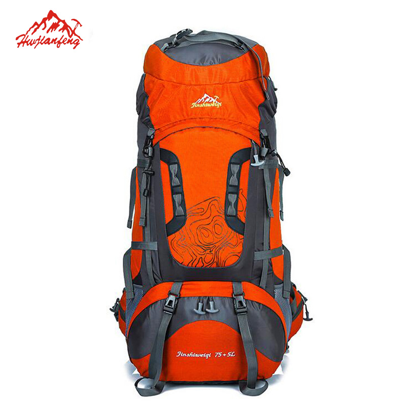 ФОТО 75-80L Men's Professional Outdoor Sport Bag Large Shoulders Backpack Waterproof  Camping Hiking Mochila Trekking Bags 36X80X26cm