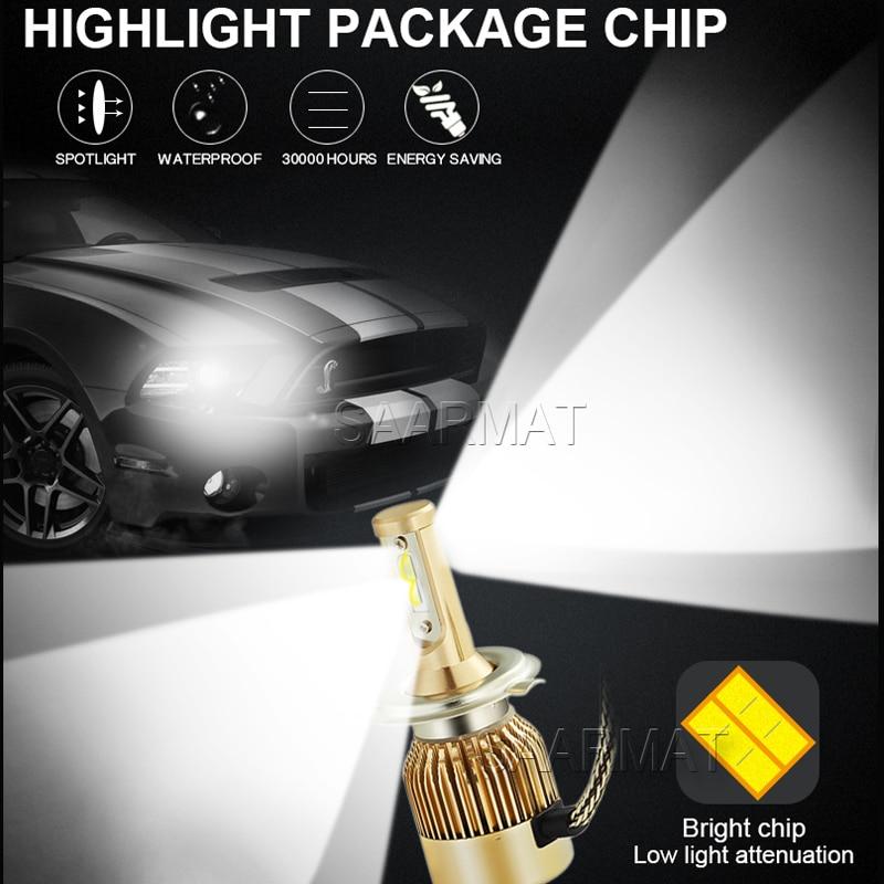 1Set LED světlomet H1 H3 H4 H7 H8 H9 H11 H16 (JP) 880 881 9005 H10 9006 9012 11000LM Mlhovka DRL Kit 6000K Bílá