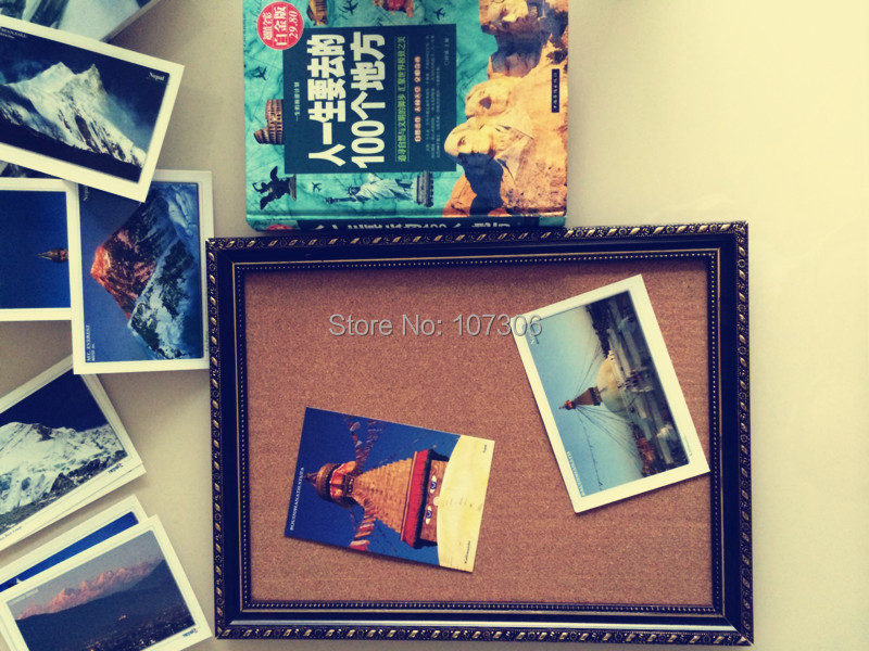 New Arrival Cork Bulletin Board Oil Painting Frame Message Boards 45*35cm Corkboard with Push Pins Photos Board For Home School never ball head pin tacks set thumb tacks color push pins thumbtack pins for cork board decorative office accessories 240 pcs