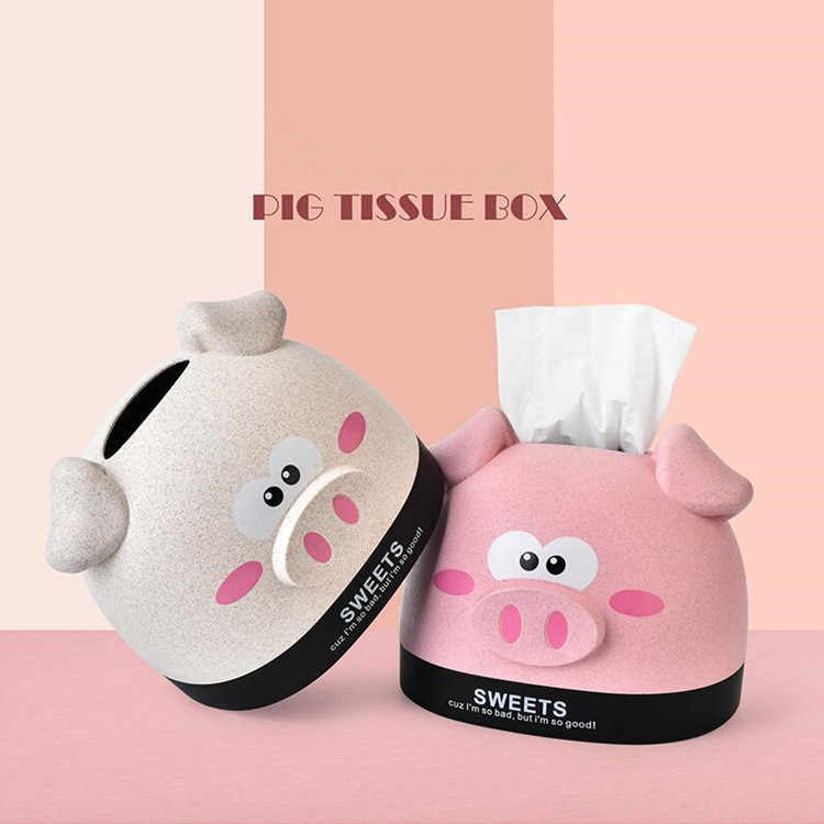 Hot Selling Cute Pig Reusable Flip Mount Lid Cute Infant Baby Wet Wipes Tissue Wet Wipes Covers for Wet Paper Tissue Box