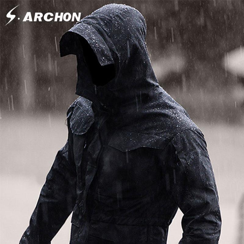 S. ARCHON M65 армии одежда Тактический ветровка Для мужчин зима-осень куртка Водонепроницаемый водостойкая, ветрозащитный, Пеший Туризм Куртки