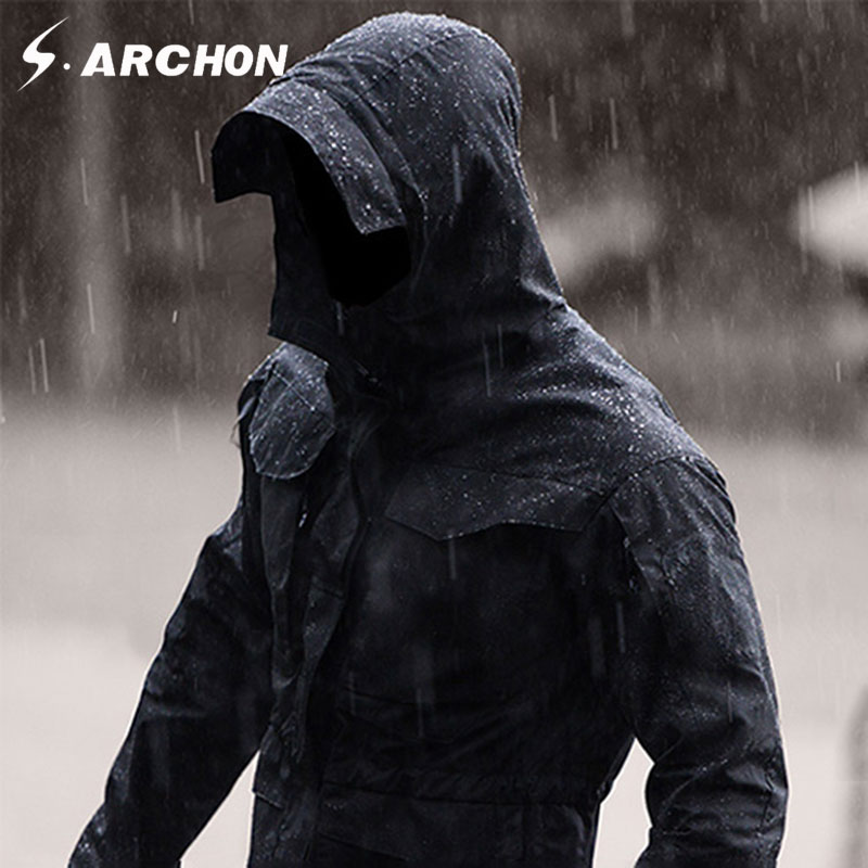 s.archon M65 Army Clothes Tactical Windbreaker Men Winter Autumn Jacket Waterproof Wearproof, Windproof, hiking jackets