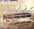 Модные прозрачные кухонные принадлежности  приправа  комбинированные домашние ящики для хранения