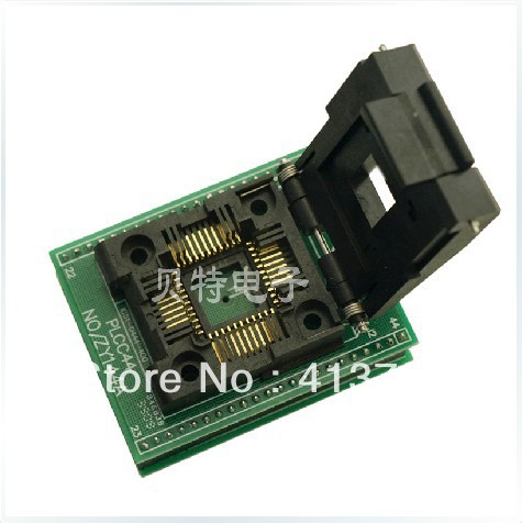 Ucos dedicated IC programming PLCC44 to DIP44 seat ZY144A adapter to test tqfp64 ucos dedicated programming block zy501a burning test adapter adapter