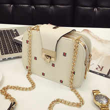 Famous Brand Female Bag 2019 Korean Fashion Mobile Phone Chain Small Square Shoulder Ladies Messenger