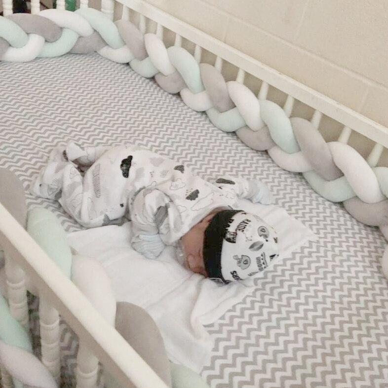 Trenza Cuna Bebe Baby Cot Bumper In The Crib Tour De Lit Bebe Tresse Newborn Baby Bed Bumper Knot / Protector Warkocz Do Lozeczk