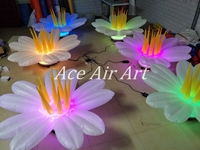beautiful 1.5m Diameter Colorful LED lighting Color Changing Inflatable lily Flower for CH
