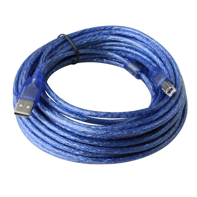 10M/32.8ft  USB A Male AM to B Male BM Data Long Cable Cord Shielding Design for Printer Blue black high speed od4 0 5gbps standard usb3 0 usb 3 0 b type male am to bm printer cable thin cord connector wire 60cm 0 6m 2ft