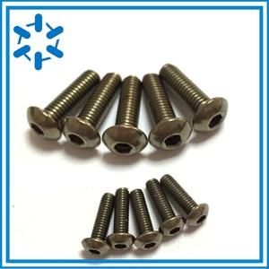 Image 2 - 50pcs Pure Titanium button head socket screw Ti GR2 ISO7380 M3*3/4/5/6/8/10/12/14/15/16/18/20/22/23/24/25/26/27/35/40/44/45/50