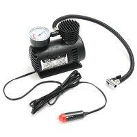 300 PSI Portable Mini 12V Air Compressor Auto Car Electric Bike Tire Inflator Pump With 2