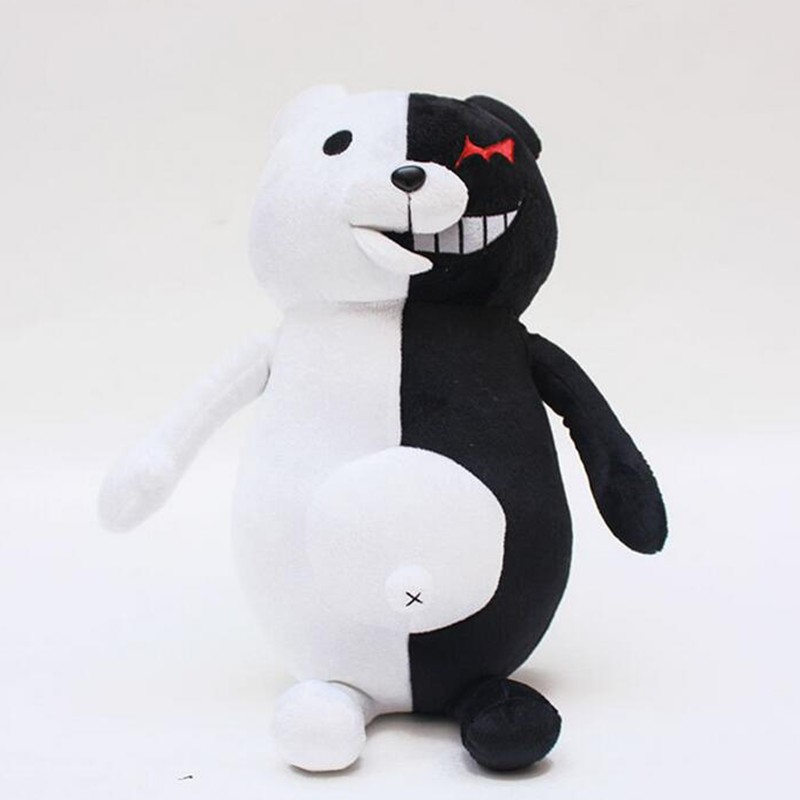 Mylitdear 25cm 35cm Simulation Model Animal Monokuma Stuffed Plush Toy Good Quality Present Gift Christmas Doll Bear Xmas Baby