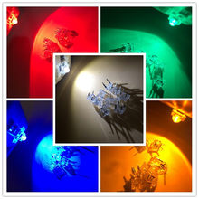 5Valuesx 20 = 100 Buah 5 Mm Piranha Super Flux Merah/Hijau/Biru/Putih/ kuning Lampu LED Lampu(China)
