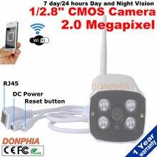 """Full HD WIFI Cámara IP 1/2. 8 """"Sensor CMOS ONVIF P2P IR 2.0MP 1080 P Wireless Impermeable Al Aire Libre de Visión Nocturna Con Detección de movimiento detectar"""