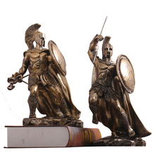 Retro Warrior  Greek  armor Middle Ages Character Statue Resin Desktop Justice Warrior Figurines Home Office Decorate Crafts polyresin ancient greek roman warrior armor model creative home decration aircraft gift