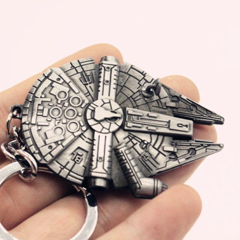 New Star Wars Millennium Falcon Metal Keyring Keychain Silver Color GM390