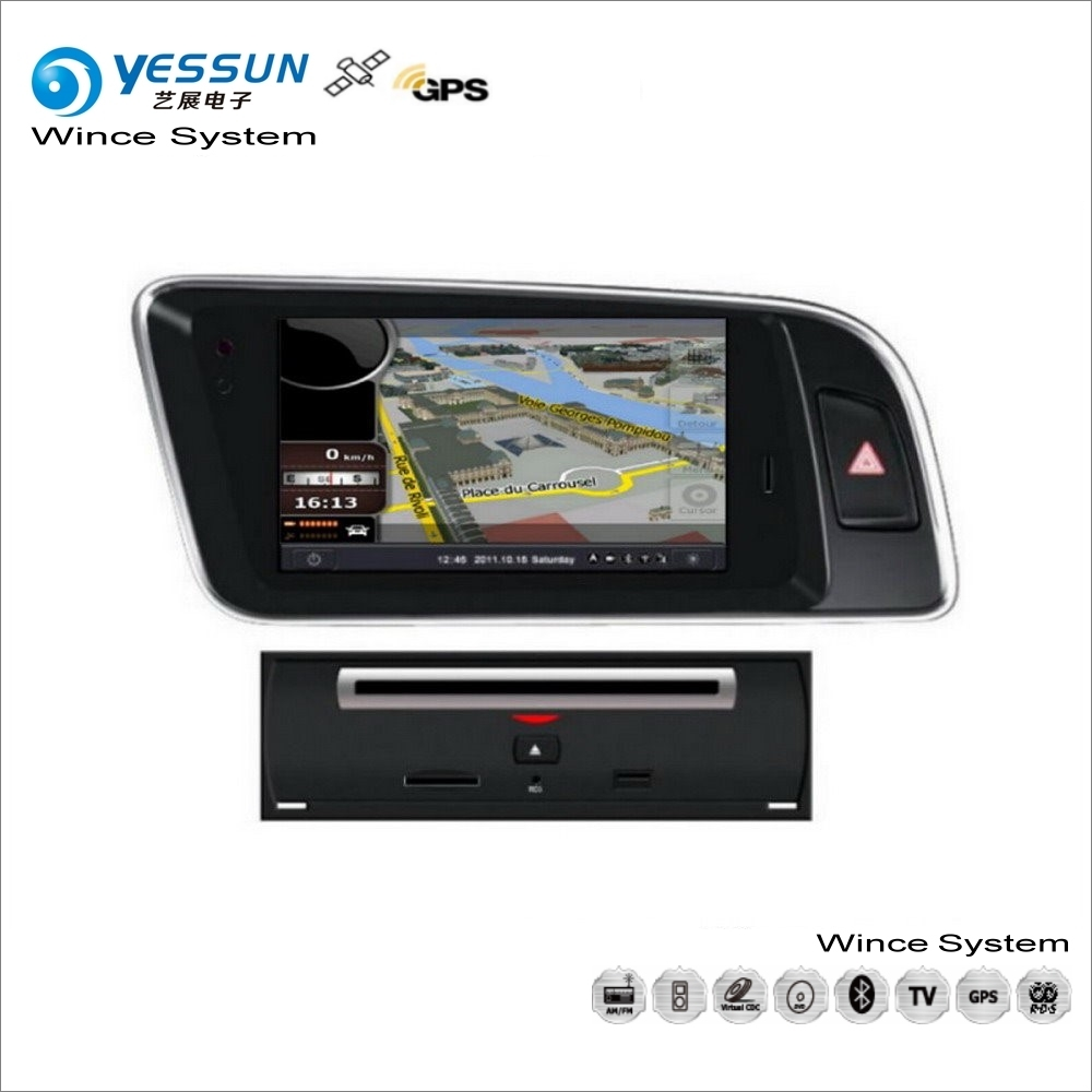 Audi Navigation System Vehicle : Yessun for audi q car wince multimedia radio cd