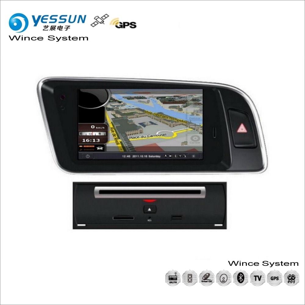 yessun for audi q5 2009 2013 car wince multimedia radio cd dvd player gps navi map navigation. Black Bedroom Furniture Sets. Home Design Ideas