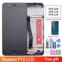 Huawei P10 LCD Display Touch Screen Digitizer Assembly VTR L09 VTR L10 VTR L29 For 5.1 Huawei P10 LCD With Frame Replacement