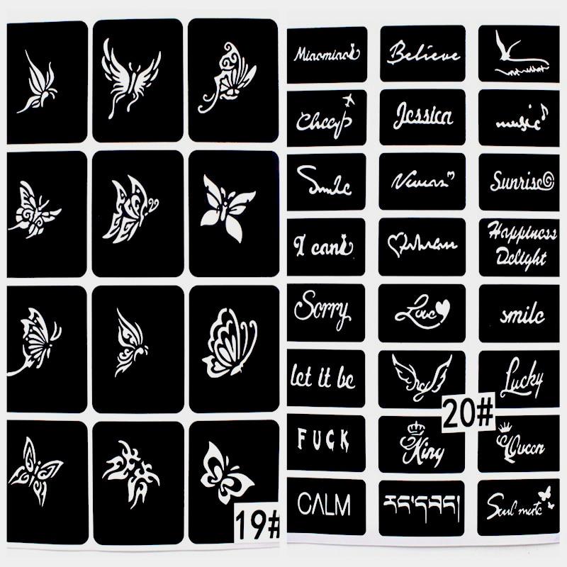 446st / Lot återanvändbar klistermärke Tattoo Stencils Folder, - Tatuering och kroppskonst - Foto 5