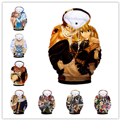 Anime Fairy Tail 3D Printed  hoodie Tops Sweatshirts Coat Unisex  Long Sleeve for  spring and autumn
