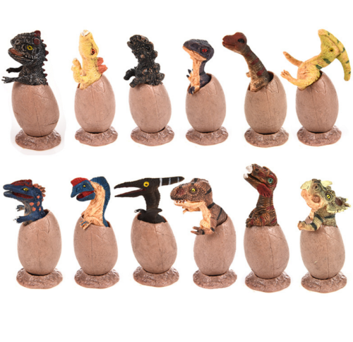 12Pcs/Set Dinosaur Eggs Novelty Trex Figure Animal Model  Adults Kids Toy Collector Decoration Birthday Gift