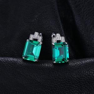Image 2 - JewelryPalace серьги Для женщин Роскошные 7.6ct создания Изумрудный стерлингового серебра 925 пробы бренд уха ювелирные изделия