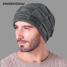 [DINGDNSHOW] 2019 Brand Beanies Hat Adult Cotton Knitted Men Winter Cap Warm Bonnet Skullies