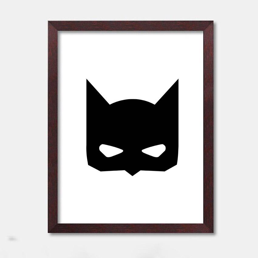 Cartoon Batman inspiration schwarz rahmen druck leinwand poster für ...