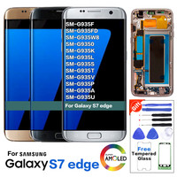 Super Amoled Original LCD For Samsung Galaxy S7 edge G935 G935F LCD Display+Touch Screen with Frame Galaxy S7 Edge LCD