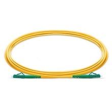 QIALAN 10 m (33ft) APC LC para LC APC Fibra Patchcord Simplex 2.0mm G657A PVC (OFNR) 9/125 Single Mode Fiber Patch Cable