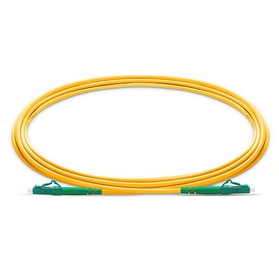 QIALAN 10m (33ft) LC APC to LC APC Fiber Patchcord Simplex 2.0mm G657A PVC(OFNR) 9/125 Single Mode Fiber Patch Cable