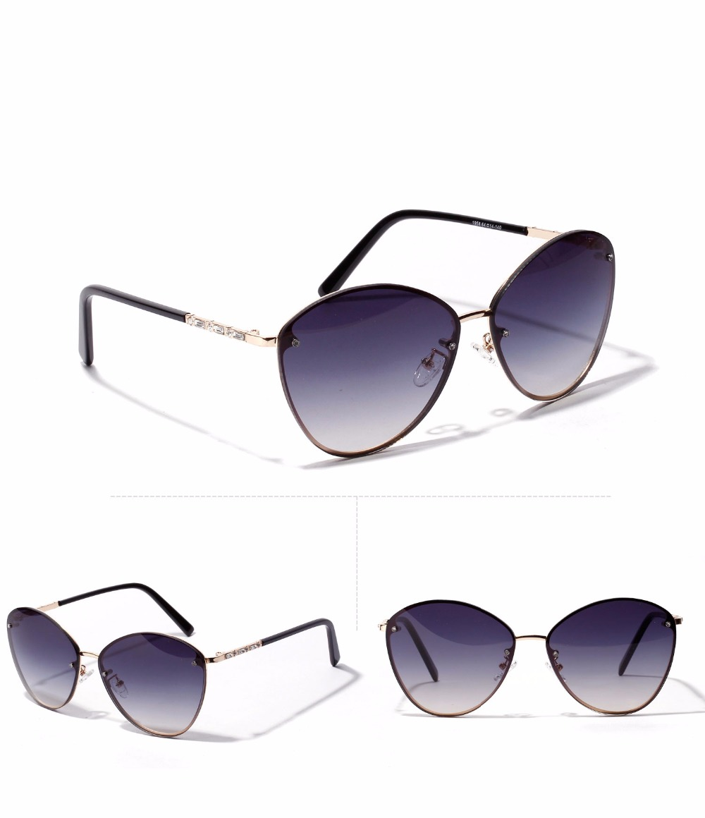 dafa8fb3c985c2 MUZZ Mode Femmes lunettes de Soleil Gradient couleur lunettes de Soleil  sans monture lunettes Vintage Marque Pilote Hommes Lunettes de Soleil Cat  Eye ...