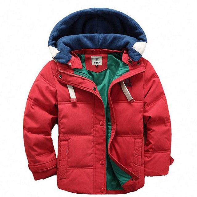 ДЕШЕВЫЕ Дети Мальчики Куртка для Зимней Одежды Рождество С Капюшоном Детские Теплые Куртки