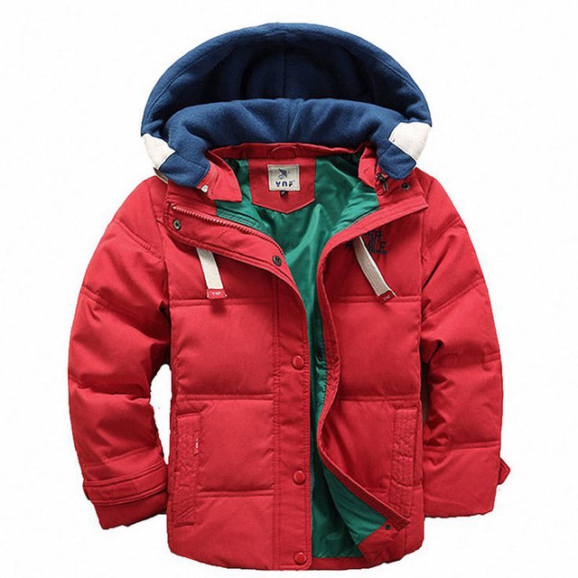 CHEAP Children Boys Jacket for Winter Clothes Christmas Hooded Kids Warm Coats