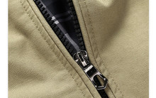 DIMUSI Autumn&Winter Men's Casual Jackets Stand Collar Military Windbreaker Coats Male Fashion Business Outerwear for Men,YA030