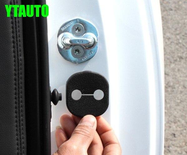 Автоматический дверной замок с пряжкой, амортизирующее устройство pad для hyundai нового santa fe ix45, kia K3, sorento 2013,4 шт./лот, автомобильные аксессуары