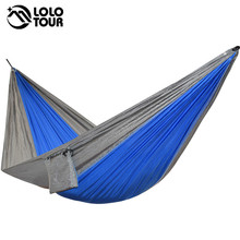 Portable one person parachute Hammock Swing indoor outdoor Leisure Camping hang Bed Garden hamak Sleeping hamac hamaca 230*90cm(China)