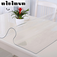 NEW Soft Glass Transparency PVC Table Cloth Waterproof Party Wedding Home Kitchen Dining Placemat Pad Thickness