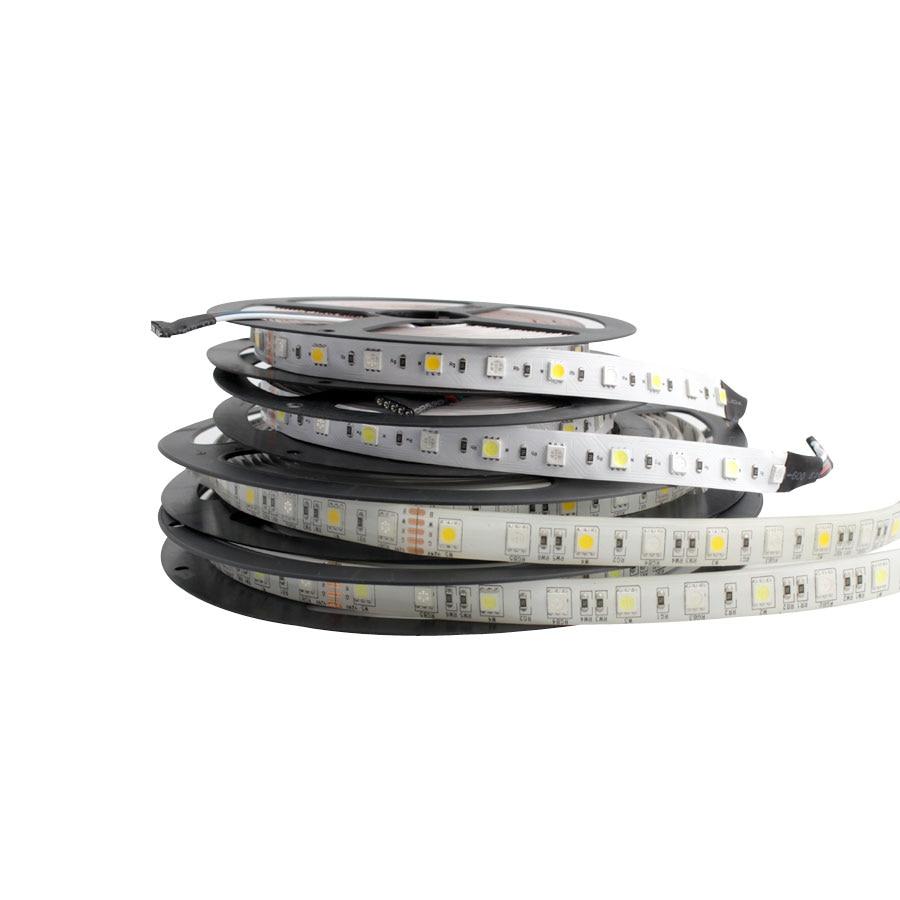 24 V LED Strip Light 5050 RGB RGBW RGBWW 24V 5M 60LEDs/m Waterproof Led Strip Lights Neon Diode Tape Lamp Strip For TV Backlight