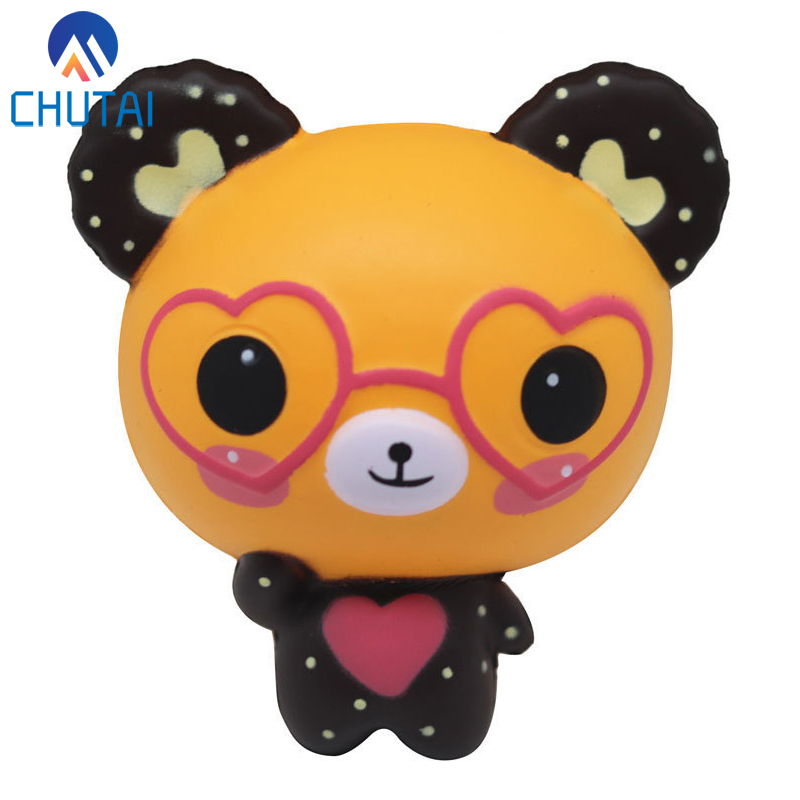 Jumbo Kawaii Squishy Love Cute Glasses Bear Scented Squishy Charm Super Slow Rising Squeeze Toys Stress Reliever Toy 12*11*6CM