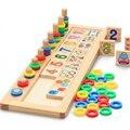 Materiais de Montessori De Ensino De Madeira Brinquedos de Matemática Número de Contagem de Placa de Madeira Preschool Aprendizagem Brinquedo Educativo Para As Crianças Crianças
