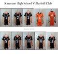 free shipping Haikyuu Cosplay Costume Karasuno High School Volleyball Club Hinata Shyouyou Sportswear Jerseys Uniform