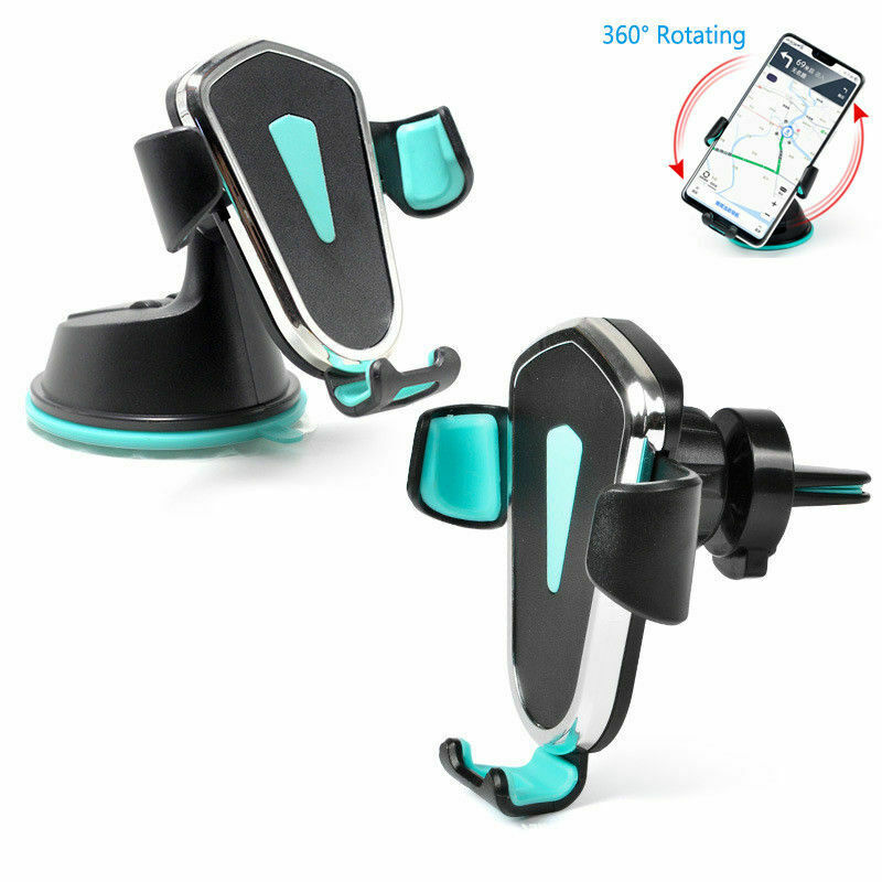 2 In 1 Dashboard Phone Holder With Air Vent Clip In Car Universal For Smartphones Auto Gravity Holder Stand Support No Magnetic