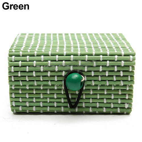 Jewelry Storage Cases Bamboo Wooden Ring Necklace Earrings Case Jewelry Boxes Holder Gift  Jewelry Box11 Colors Jewelry Gift Box