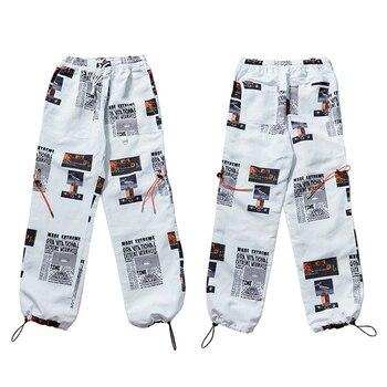 2019 Summer Joggers Hip Hip Pant Star Print Men Harajuku Sweatpant Streetwear Fashion Casual Track Pants Sweat Trousers White Bullet Cheetah