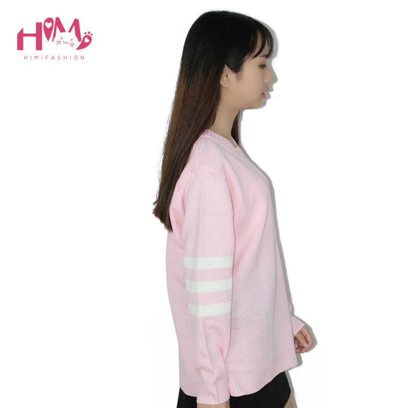 Baby Blue Baby Pink Knitted Sweater Winter Women Shirt Hot Korea Japanese Fashion  1