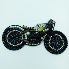 1pc sequin patch motorcycle patches for clothes DIY rhinestone beaded parche punk style Embroidery applique